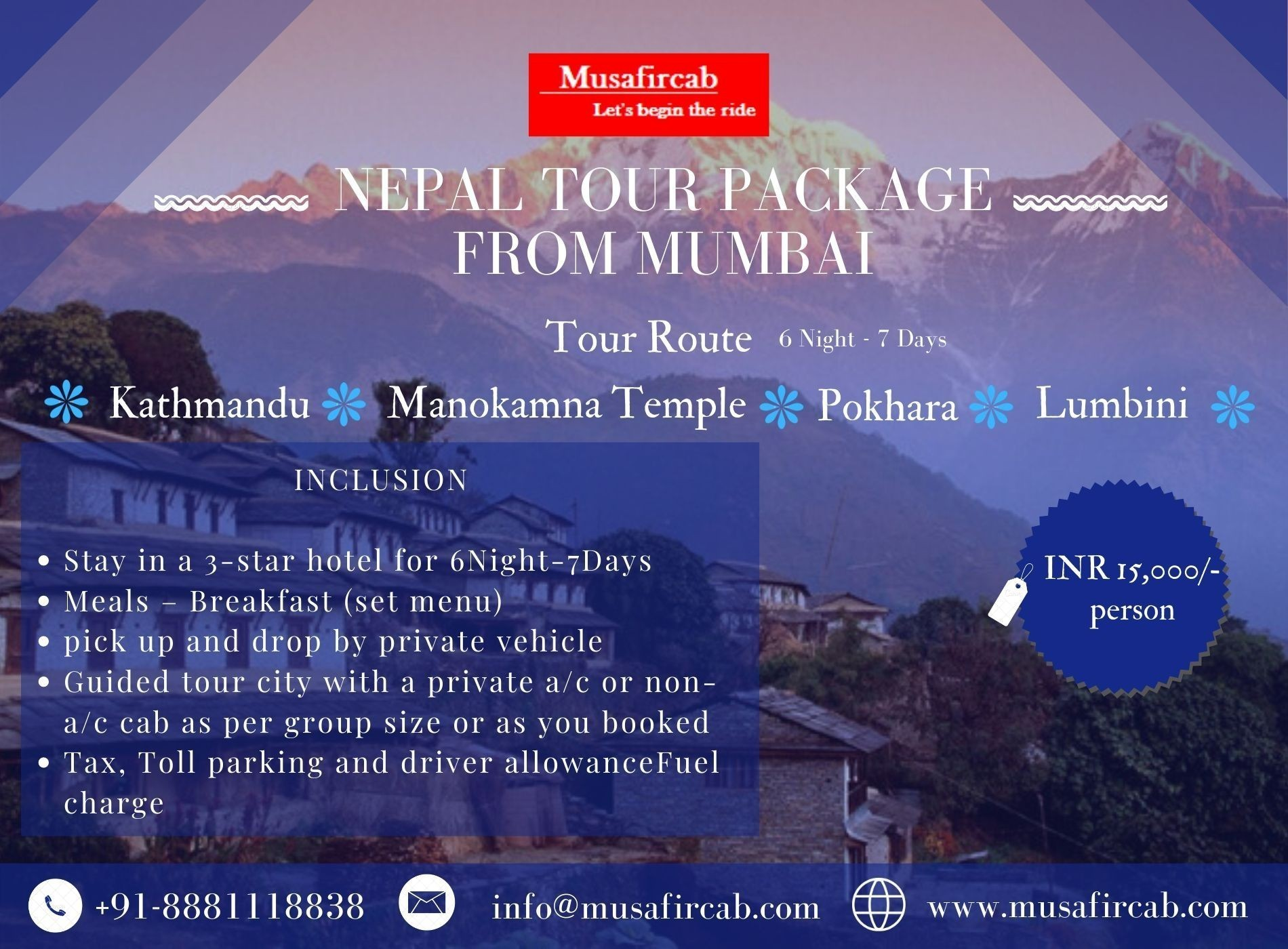 Nepal Tour Package From Mumbai